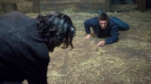Cain (Timothy Omundson) and Dean (Jensen Ackles) come face to face in S10E14 The Executioner's Song
